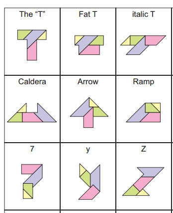 My Curiosity Took Me To Google 4 Piece Puzzle And Amazement I Saw That The Same Four Pieces Can Be Arranged Form 36 Different Shapes Here Are